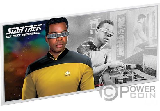 Монета-банкнота Джоржи Ла Форж («GEORDI LA FORGE») Ниуэ 2019
