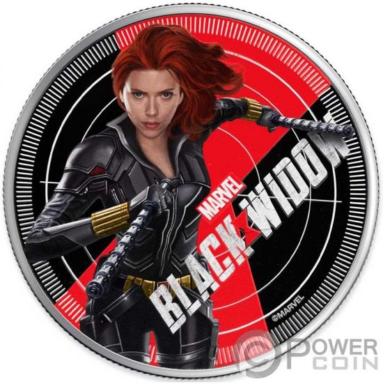 Монета «Черная Вдова» «BLACK WIDOW» Фиджи 2020