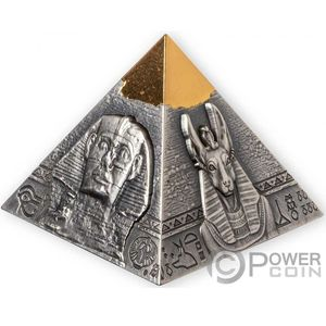 Монета «Знаменитая пирамида Хефрена» («FAMOUS PYRAMID OF KHAFRE») Джибути 2021